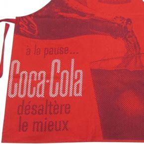 AVENTAL COCA-COLA POURING IN THE CUP ALGODÃO VERMELHO 70X80CM